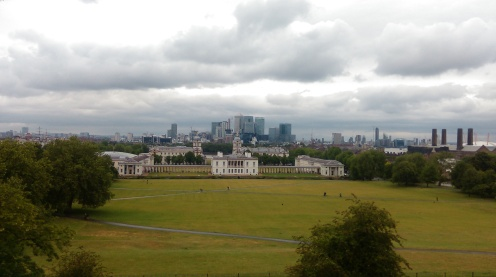 Greenwich from the top of the hill